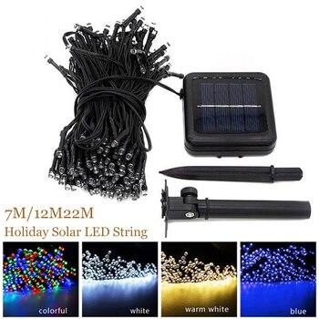 7M/12M/22M Solar Lamp Fairy String Lights Solar Power Outdoor Lighting 8 Modes Waterproof For Garden Light LED Light String