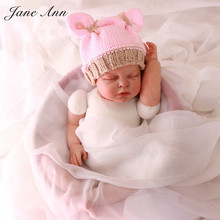 Newborn crochet hats photography newborn props Handmade baby girl. 0-3 month knitted animals rabbit  pink winter beanies