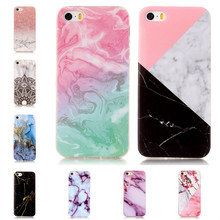 Marble Style Phone Cases for iPhone 5s Soft Back Cover Rubber Granite Case for iPhone 5 se Mobile Shell for iPhone 5se Carcasas
