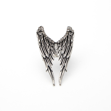 BS1079 Supernatural Angel wings ring for man woman gift adjustable Ring