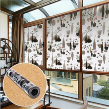 60cm*200cm Frosted Self-Adhesive Window Film Privacy Stained Glass Sticker Window Tinting Wallpaper Tags Bedroom Living Room(China)