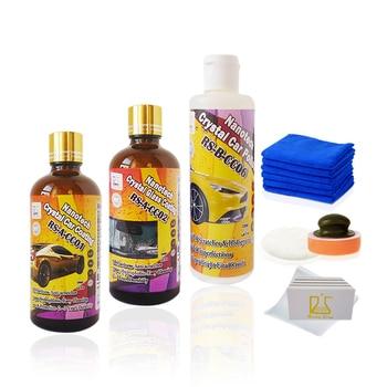 Scratch de réparation de voiture pâte à polir et nano céramique de voiture revêtement plus d'eau hydrophobe repousser auto nettoyage nano revêtement de verre