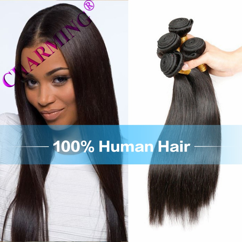 Charming Her Hair Products Store 4 Bundles 8a Malaysian Straight Virgin Hair Extension Hair Products Human Hair<br><br>Aliexpress