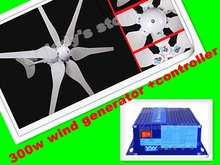 homemade wind power generater system 300w +500w 12v/24v 700w hydro controller kits
