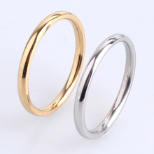 Newest gold color lovers rings fashion jewelry engagement ring classic round style wedding finger men women ring(China)
