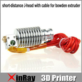 Free Shipping Hot Selling Metal short-distance J-head with cable for bowden extruder 3d Printer Accessories GT053