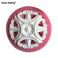 Beautiful And Fashion Flower Shape Lace Design Fondant Cake Molds Tools Soap Chocolate Mould Bake ware C500