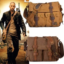 Vintage Canvas Crossbody Bag Men Military Army Messenger Bags I AM LEGEND Shoulder Bag Man Casual Travel Bags bolsas feminina
