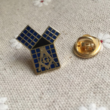 10PCS MASONIC Metal Blue Lodge LAPEL PIN TIE TACK brooches and pins badge Euclid's 47th Problem Pythagorean Theorem