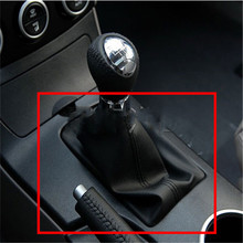Car-Styling For Mazda 6 M6 Black PU Leather Car Gear Shift Knob Boot Gaiter Cover Collar 2002 2003 2004 2005 2006 2007 AT & MT