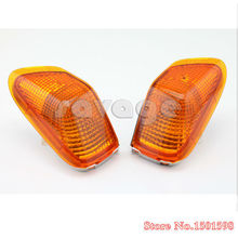 For KAWASAKI ZZR 400 1990-1992 Motorcycle parts Front Turn signal Blinker Lens Amber