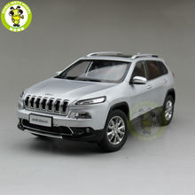 1/18 Jeep Cherokee Diecast Metal Car Suv Model Collection Gift Silver Color(China)