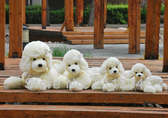 Freeshipping 1pc retail 65cm plush poodle dog stuffed animal cute pets friends kids christmas gifts XL size<br>