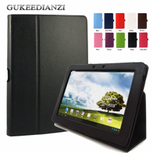 GUKEEDIANZI Stand Leather Case For ASUS Transformer Pad TF300TG TF300T TF300TL TF300 10.1 inch Flip Folded Rotate Tablet Cover(China)