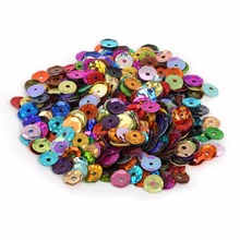Hot 200-1500pcs different size Loose Sequin for Clothing Accssory DIY Craft Scrapbooking Wedding Art Decoration Jewelry Making(China)