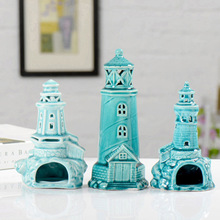 3 Styles Creative Cute Blue And White Porcelain Tower Ornaments, Home Decorations, Desktop Accessories, Japanese Style Groceries