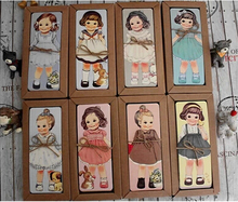 30PCS/lot New girl doll mate series Bookmark set / paper bookmarks/ book holder / message card with Kraft package(China)