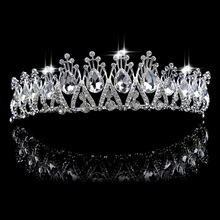 Women Crystal Rhinestones Crowns Bride Hair Accessories Wedding Tiaras Bridal Headband Hair Ornaments Pageant Prom Hair Jewelry