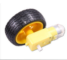 Details about  smart Car Robot Plastic Tire Wheel with DC 3-6v Gear Motor For arduino USAB
