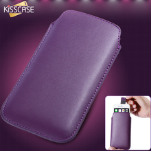 KISSCASE 5.5 Universal Leather Bag Pouch For Samsung Galaxy J5 J7 S3 S4 Mini S5 S6 S7 Edge A5 A3 Phone Mini Purse Case Sleeve