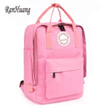 New 2017 Women Casual Canvas Backpack Candy Color Waterproof Backpack School Bags For Teenagers Girls mochila feminina A310(China)
