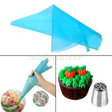 Reusable Silicone Cake Pastry Bag Cake Fondant Pastry Icing Cream Decorating Tools Without Piping Nozzles Kitchen Bakery