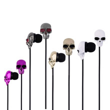 New 3.5mm Colorful Skull Earpods Earplugs Earphone for Iphone 4 4S 5 5S,for ipad mini,for ipod touch,retail package(China)