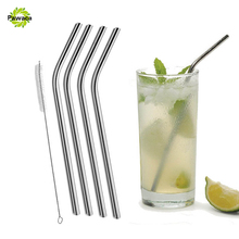 New Elegant Polished Stainless Steel Drinking Straw with Cleaning Brush for 20/30 oz Yeti Rtic Rambler Tumblers Mugs 5Pcs/lot