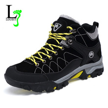 Men Boots Winter With Fur 2016 Warm Snow Boots Men Outdoor Boots Work Shoes Men Footwear Fashion  Male Rubber Ankle Shoes 39-45