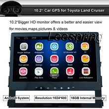 10.2 Inch 2 Din Android Car Radio Player for Toyota Land Cruiser 2016,16G Flash 1G DDR3 RAM Quad Core 1.6G 1024x600 GPS
