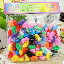 100pcs Colorful Children Kid Girl Hair Accessories Hair rope Towel Elastic Rainbow Hair bands Wholesale Retail Ponytail Holder
