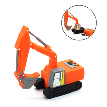 Red excavator pen drive truck usb flash drive 4GB 8GB 16GB pen drive 32GB USB 2.0 Memory Stick children gift flash drive
