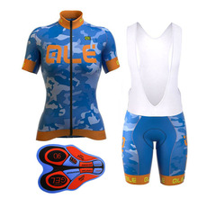 Pro Men Cycling Jersey Set Breathable MTB Clothes Quick Dry Bicycle Summer Sportswear Ale Bike Jerseys Ropa Ciclismo Blue Pink(China)