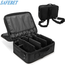 SAFEBET High Capacity Waterproof Cosmetics Storage Bag Large Beautician Makeup Storage Box Travel Portable Makeup Organizer(China)