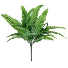 New 2015 1x Green Imitation Fern Plastic Artificial Grass Leaves Plant for Home Wedding Decoration Arrangement Free Shipping