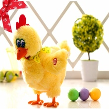 Funny Electric Musical Dancing Laying Egg Educational Baby Kid Toy Chickens Crazy Singing Dancing Electric Pet Plush Toy(China)