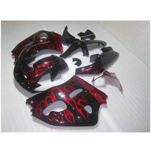 Fairing kit fit for Suzuki SRAD GSXR 600 GSXR 750 1996-2000 red flames in black fairings 96 97 98 99 00 plastic parts(China)