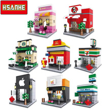 HSANHE Brick Mini Building Blocks Architecture Kids Figure toys Educational Compatible With Legoe Toys for Children Christmas(China)