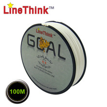 100M Brand LineThink GOAL Japan Quality Multifilament 100% PE Braided Fishing Line Fishing Braid Free Shipping(China)