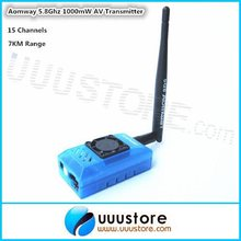 Aomway FPV 5.8G 5.8Ghz 1000mw 15CH TX Wireless Audio Video Transmitter for Fatshark ImmersionRC RC Airplane Helicopter 7KM Range