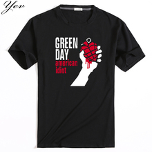 2017 summer design Man Tshirt Famous band Green Day printed Tops&Tees T shirt Rock Hip Hop T shirt fashion picture(China)