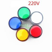 5PCS AC/DC 220V 22mm Thread LED for Electronic Indicator Signal Light Five color optional ,default red AD16-22(China)