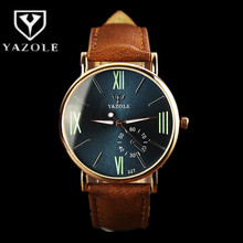 YAZOLE Watch Fashion Roman numerals Men's Watch Men Watch Luminous Waterproof Sport Mens Watches Clock saat relogio masculin(China)