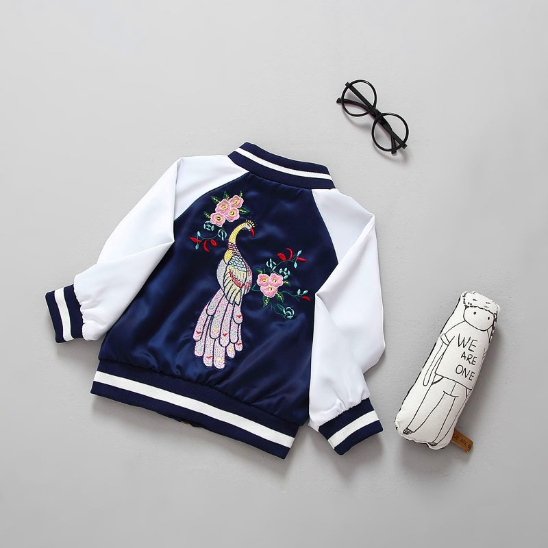 new 2017 Hot Autumn children cotton peacock embroidered coat kids coatsОдежда и ак�е��уары<br><br><br>Aliexpress