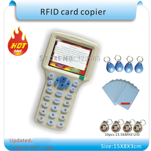 Updated version Handheld 125KHz -13.56MHZ   RFID Copier Writer Duplicator with English encryption software +30pcs Writable Cards