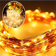 Solar Power String Light 17M 150 Led Copper Wire String Fairy Light For Outdoor Living Decoration Garden Waterproof 6colors