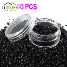 80X 5g Clear Empty Nail Polish Bottles Small Plastic Sample Containers Mini Jar With Lid Cosmetic Pot Box Powder Glitter Art(China)
