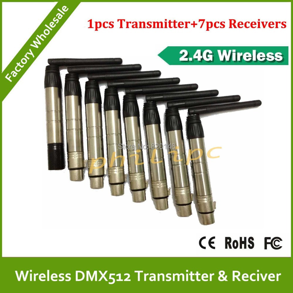 DHL/EMS Free ShippingHot sell 2.4Ghz wireless DMX transmitters DMX512 wireless receiver DMX wireless controller<br><br>Aliexpress