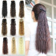 22inch Afro Kinky Hair Ponytail Hairpieces Drawstring Ponytails Ombre hair Hair Extension Hair Pieces Buns peruca