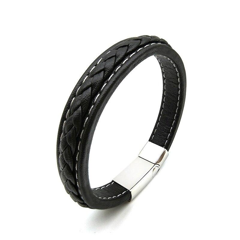 D&D Genuine Leather Magnetic Bracelet
